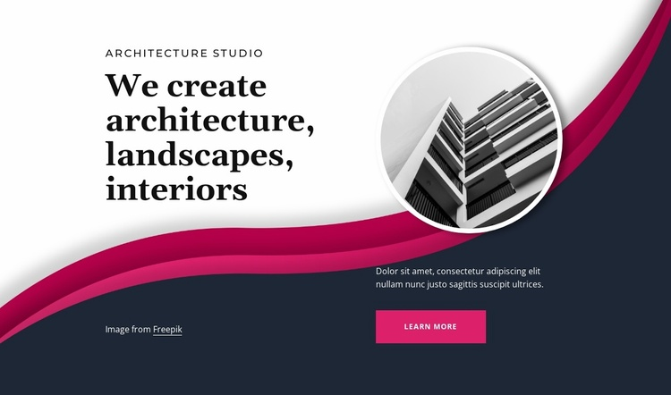 Form ever follows function Website Template