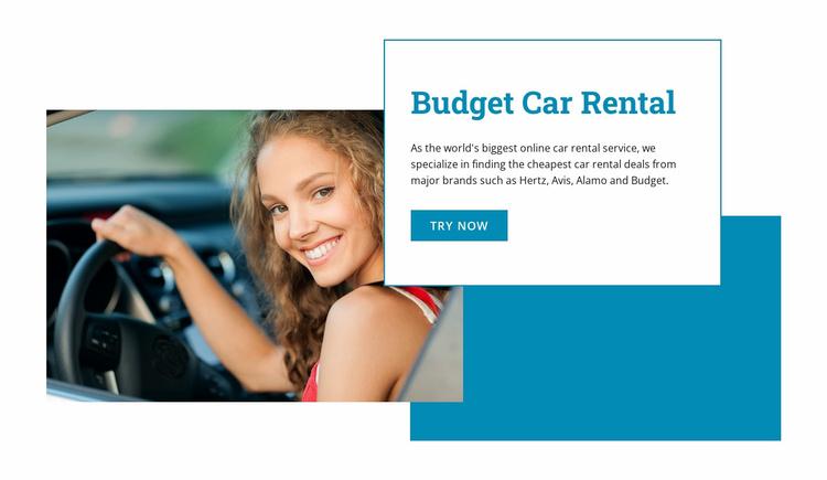 Budget car rental  Website Template