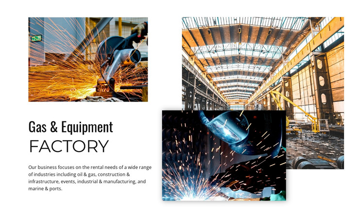 Gas and equipment factory  HTML Template