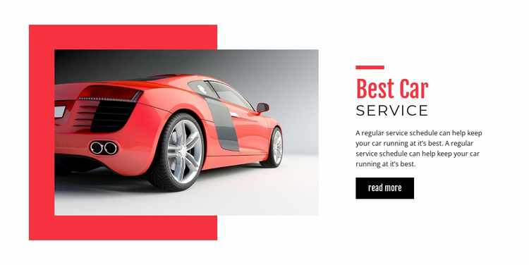 Best car service  Html Website Builder