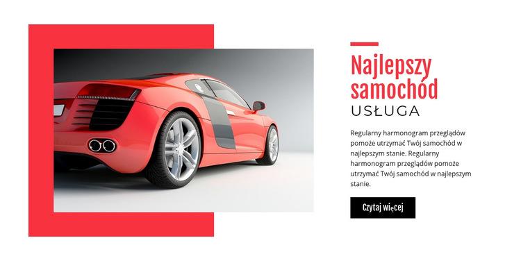 Najlepszy serwis samochodowy Szablon witryny sieci Web