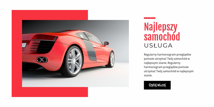 Najlepszy serwis samochodowy Szablon Joomla