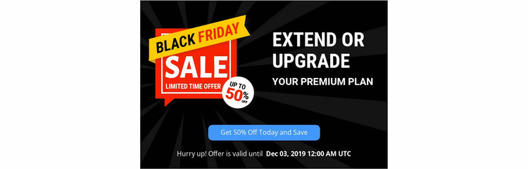 Upgrate your premium plan Website Template