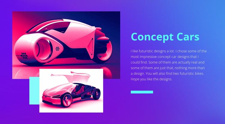 Modern concept cars  Html Website Builder