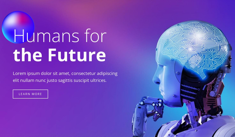 Humans of the future Website Mockup