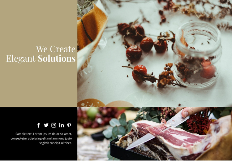 Elegant food Website Template