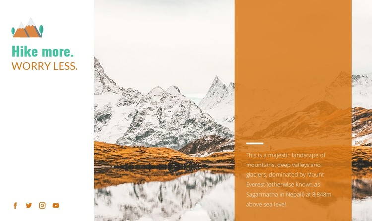 Backpacking trips CSS Template
