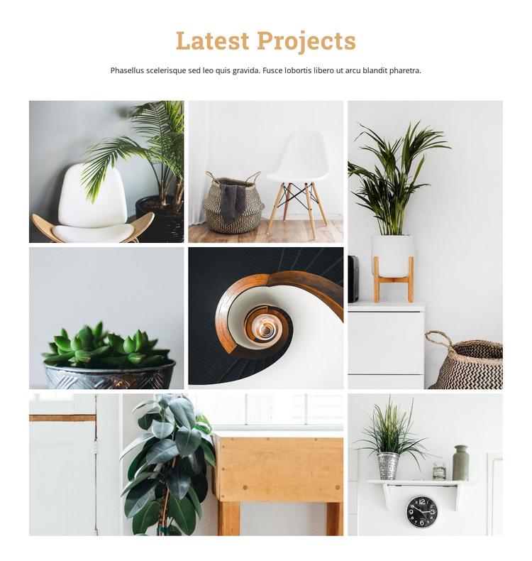 Modern interior studio  Website Builder Software