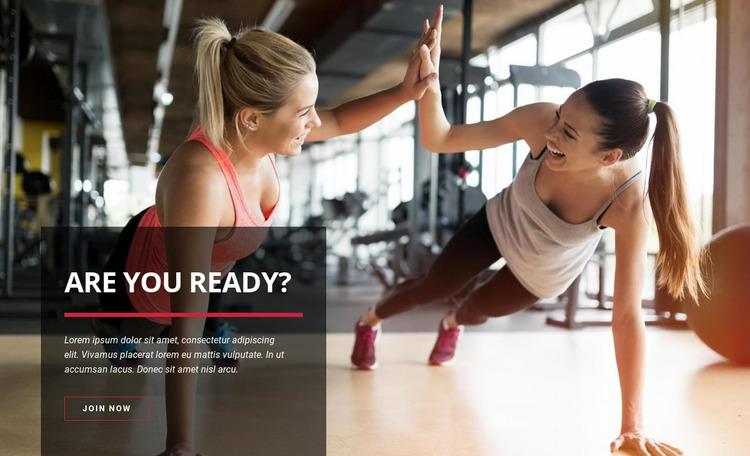 Sport training club Website Mockup