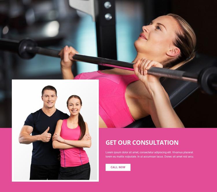 Sport strategy Website Mockup