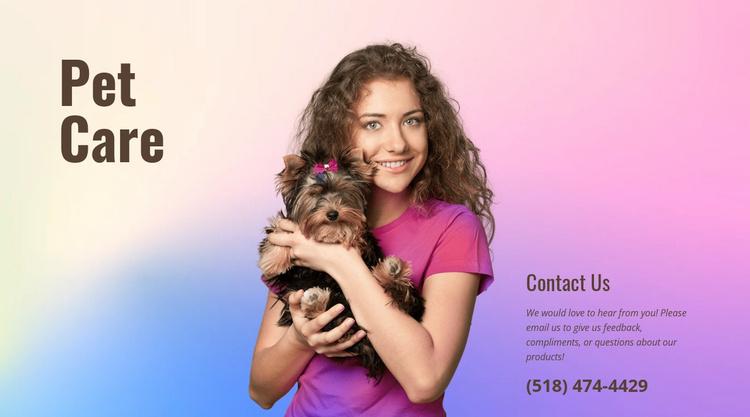 Pet care tips Website Template
