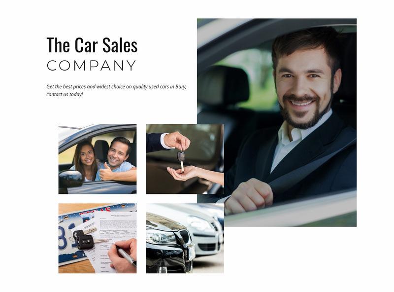 Car sales company Web Page Designer