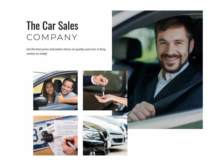 Car sales company Website Mockup