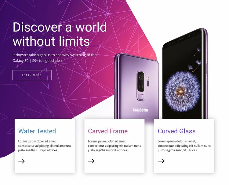 Modern technology devices Website Mockup