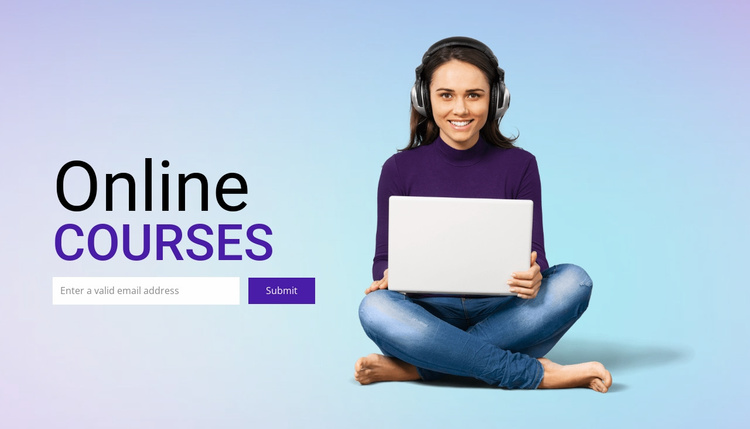 Flexible online study Website Template