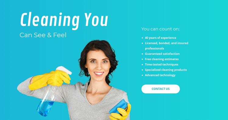 House cleaning services  Homepage Design