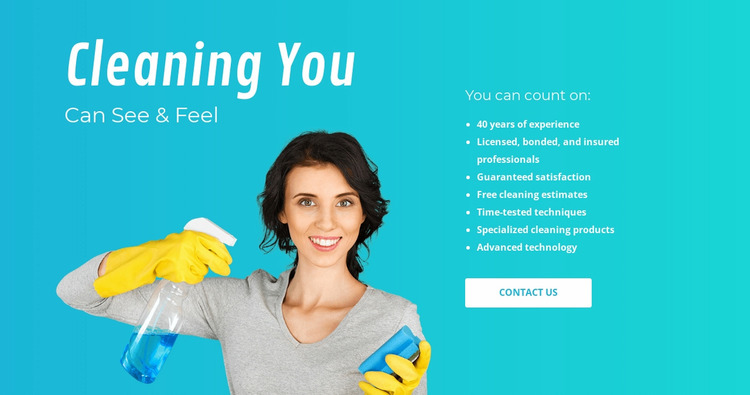 House cleaning services  WordPress Website Builder