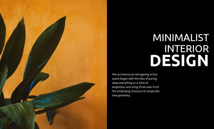 Minimalist home office Website Design