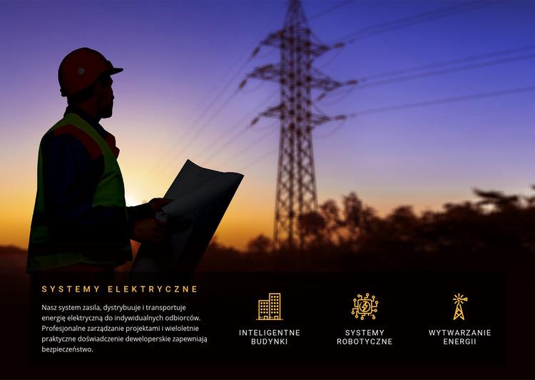 Usługi instalacji elektrycznych Szablon witryny sieci Web