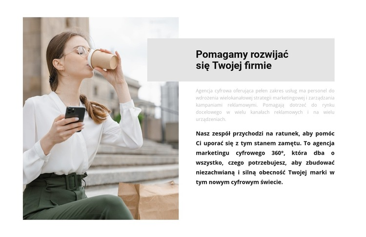 Osobisty asystent Szablon witryny sieci Web