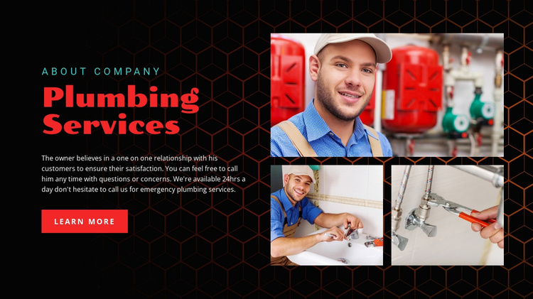 Plumbing services company  Website Template