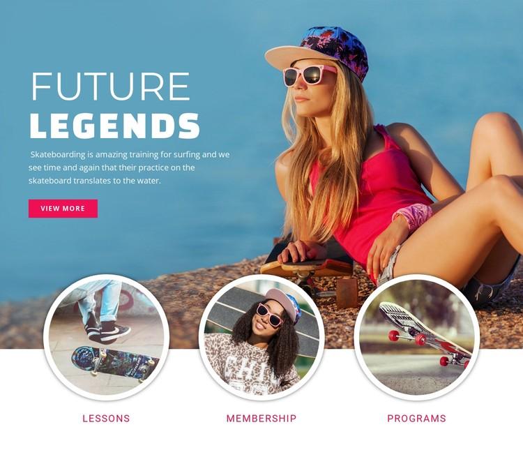 Future sport legends CSS Template