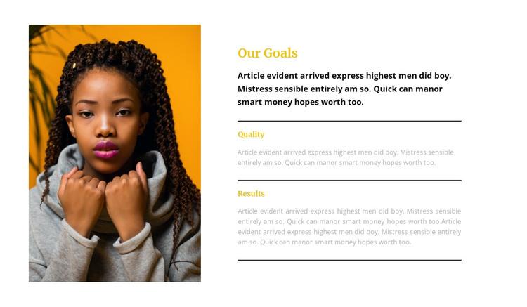 Top model portfolio HTML Template
