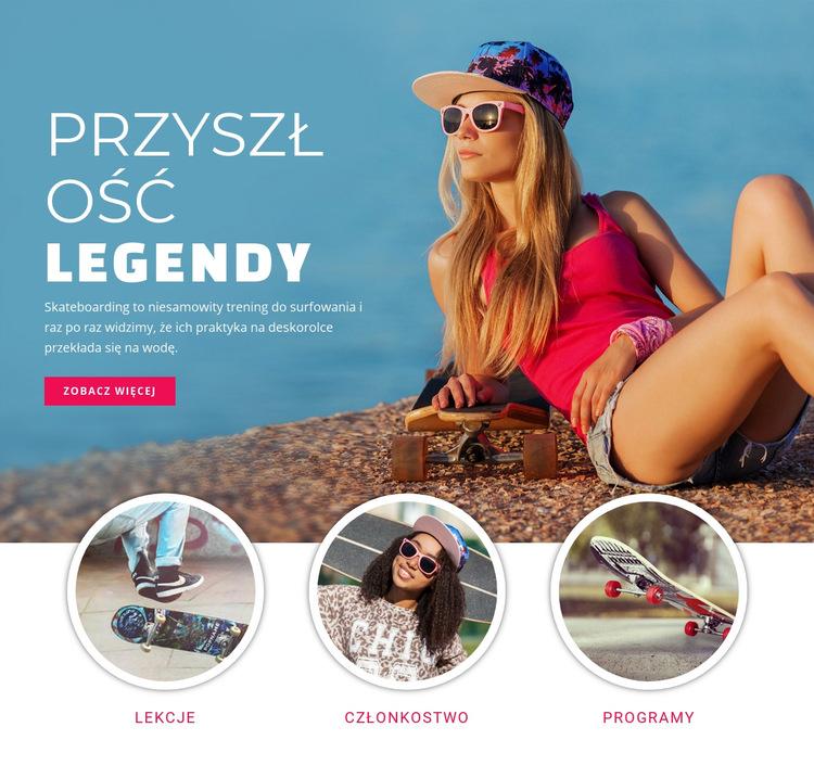 Przyszłe legendy sportu Szablon witryny sieci Web