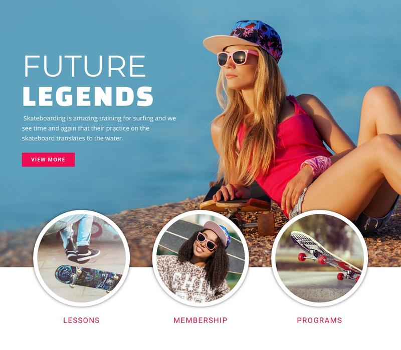 Future sport legends Web Page Design