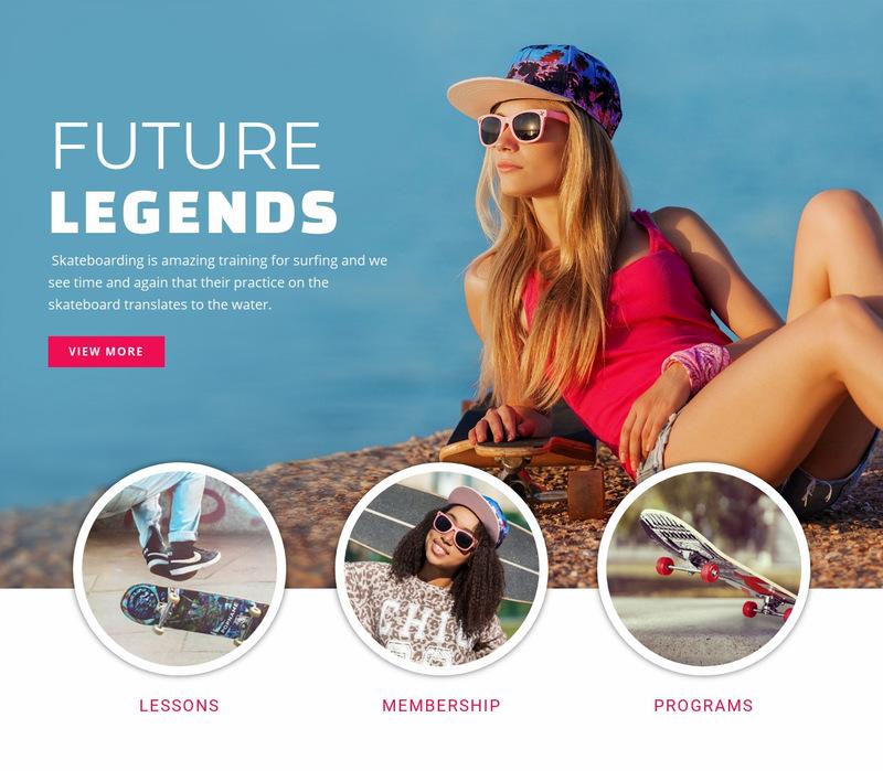 Future sport legends Web Page Designer