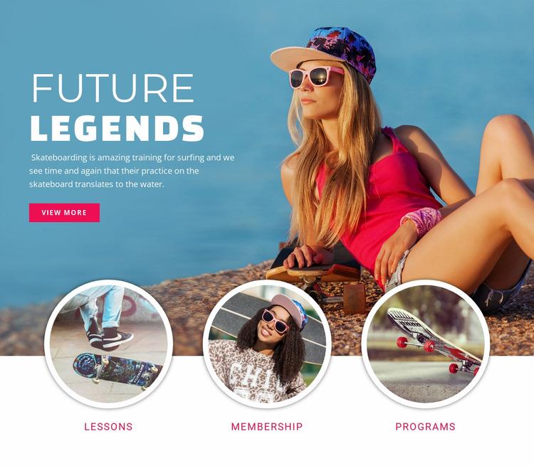 Future sport legends Website Mockup
