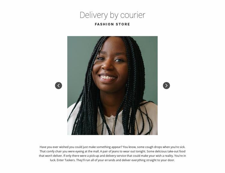 Gallery slider Website Template