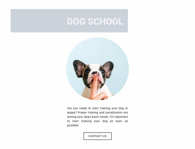 Obedient dog Website Template