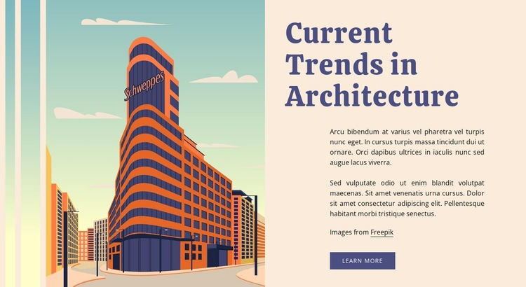 Current trends in architecture Web Page Designer