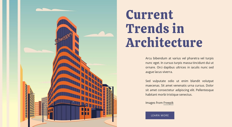 Current trends in architecture Website Template