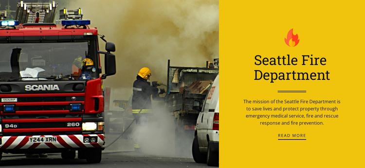 Fire department HTML Template
