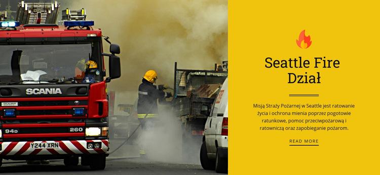 Straż pożarna Szablon witryny sieci Web