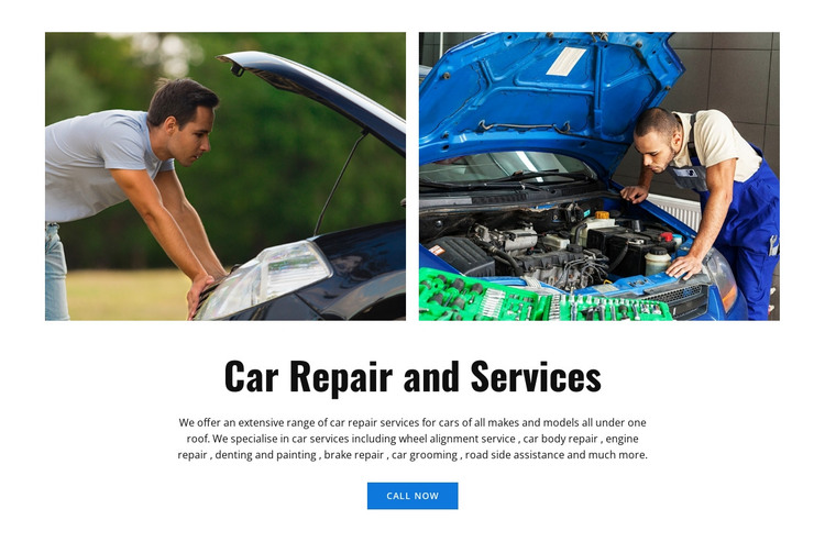 Servicing stop HTML Template