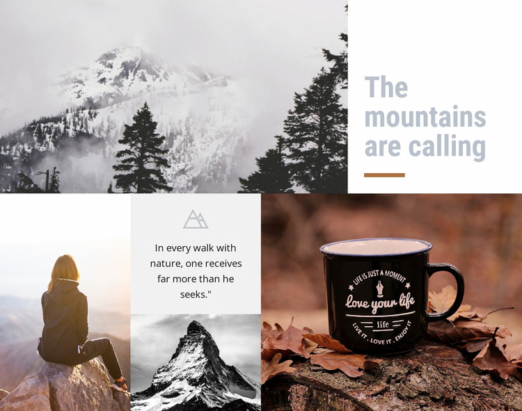 Hiking vacations Website Design