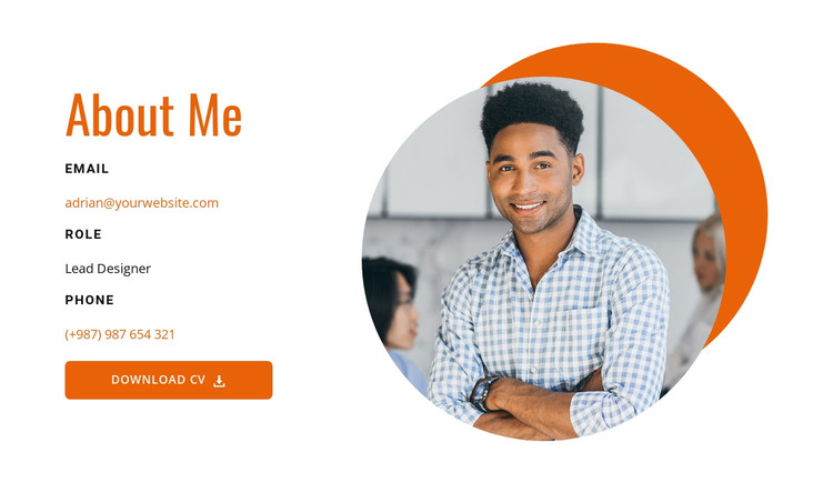 About me design HTML Template
