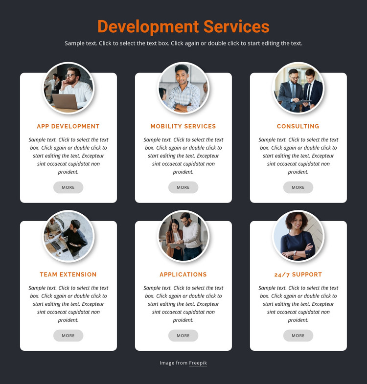 Mobile development HTML Template