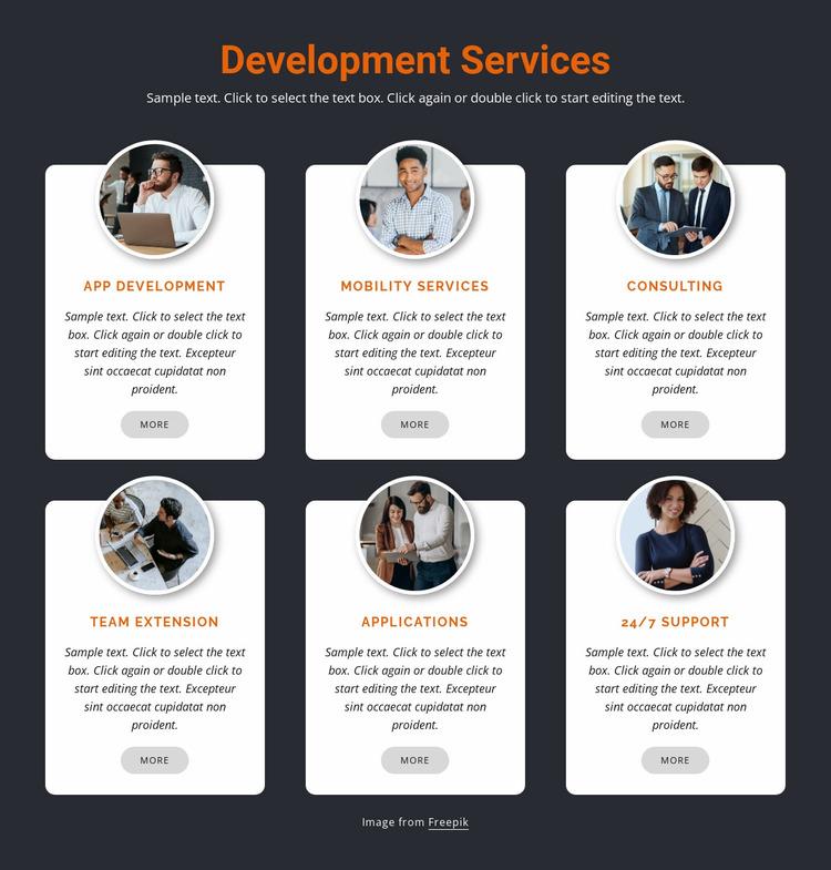 Mobile development Website Mockup