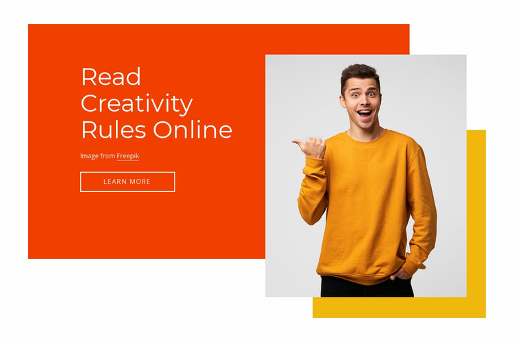 Creativity rules online Website Mockup
