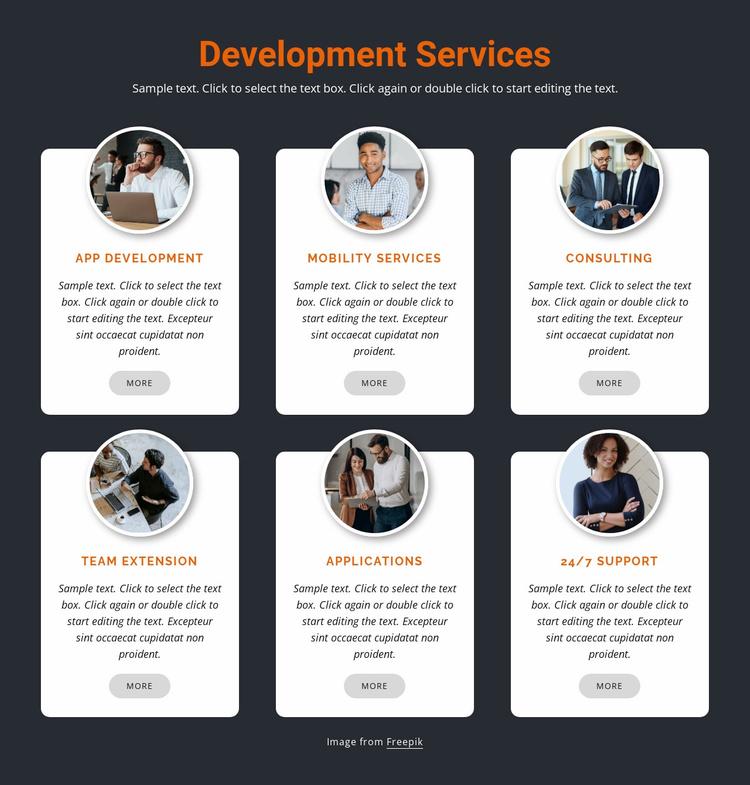 Mobile development Website Template
