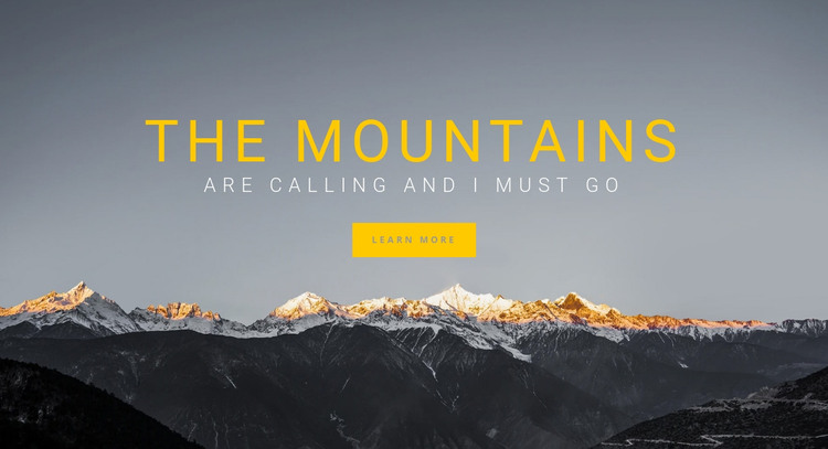 Hiking in Europe HTML Template