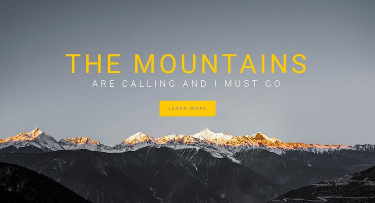 Hiking in Europe Website Builder Software