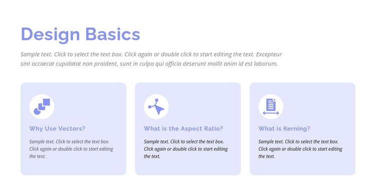 Design basics CSS Template