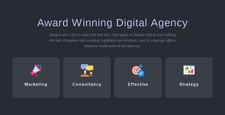 Award winning agency services Html Code Example