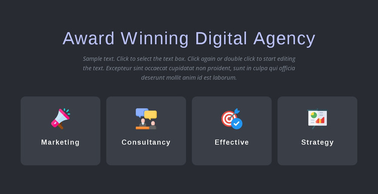 Award winning agency services HTML Template