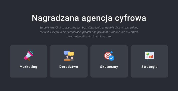 Nagradzane usługi agencyjne Szablon witryny sieci Web
